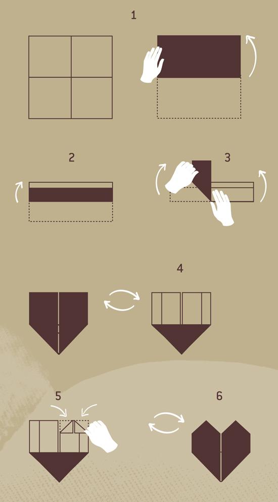 pliage de serviette le coeur blog jour de f te. Black Bedroom Furniture Sets. Home Design Ideas