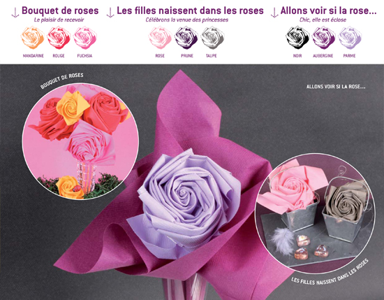 Pliage de serviette la rose blog jour de f te for Table jour de l an