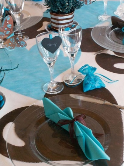 Idées Déco de Mariage : On craque pour le Turquoise-Chocolat - Blog ...