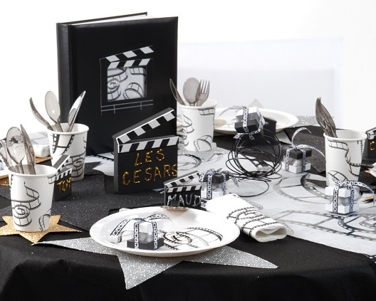 id e d co de table de f te ambiance cin ma anniversaire anniversaire de mariage blog. Black Bedroom Furniture Sets. Home Design Ideas