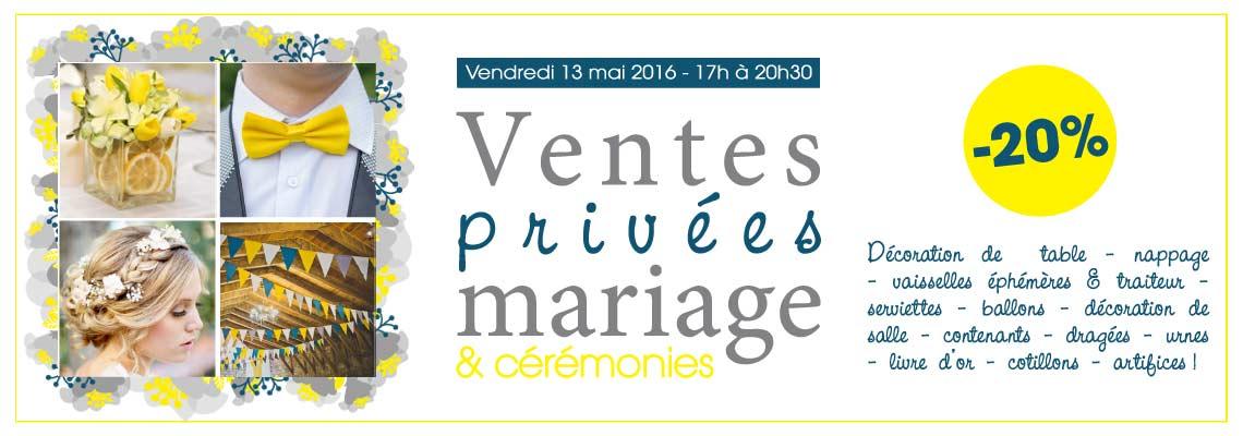 Ventes privées mariage et cérémonies