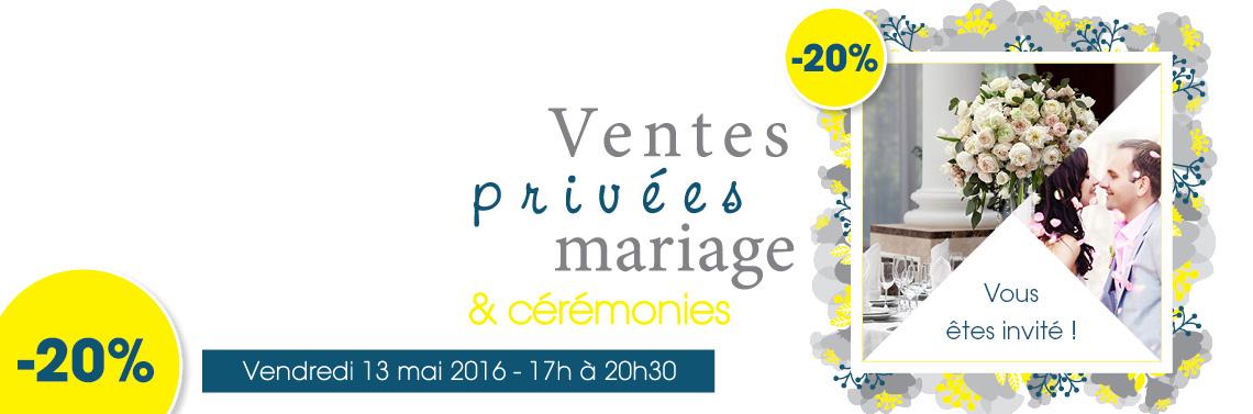 Ventes privées mariage